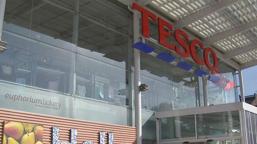 Outside of Tesco store
