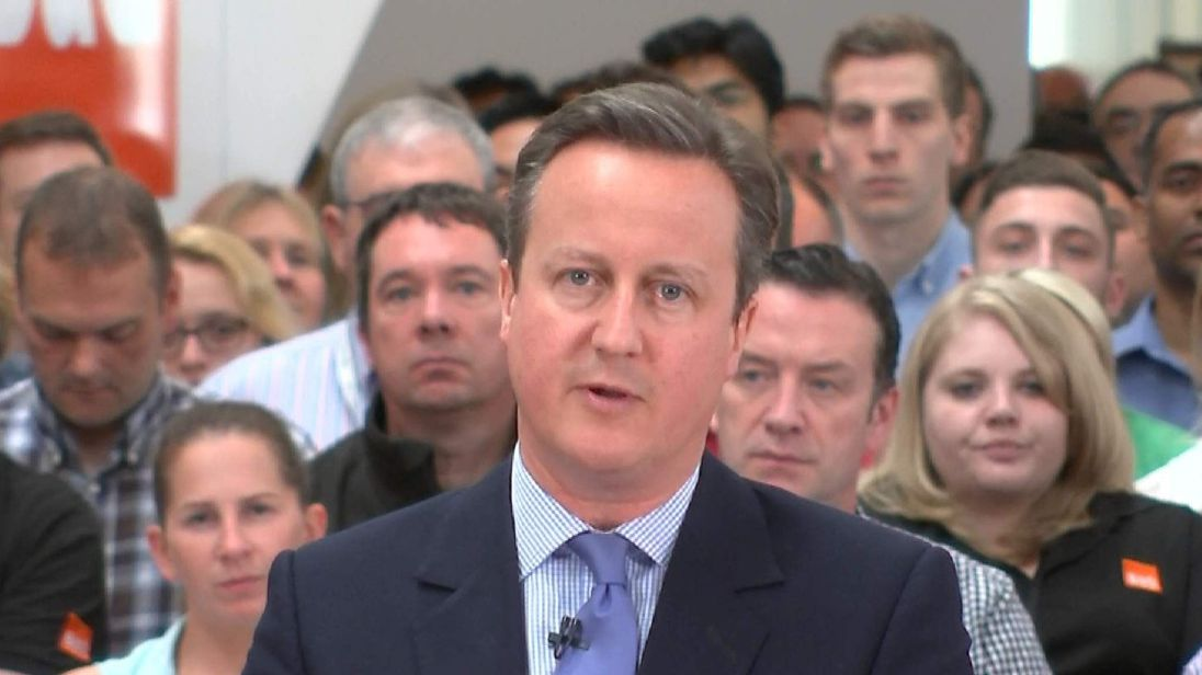 "David Cameron says the threat to the economy means a vote to stay is the ""moral"" choice"