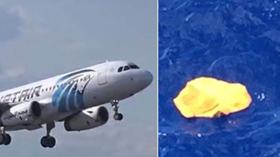 Missing EgyptAir plane and possible debris