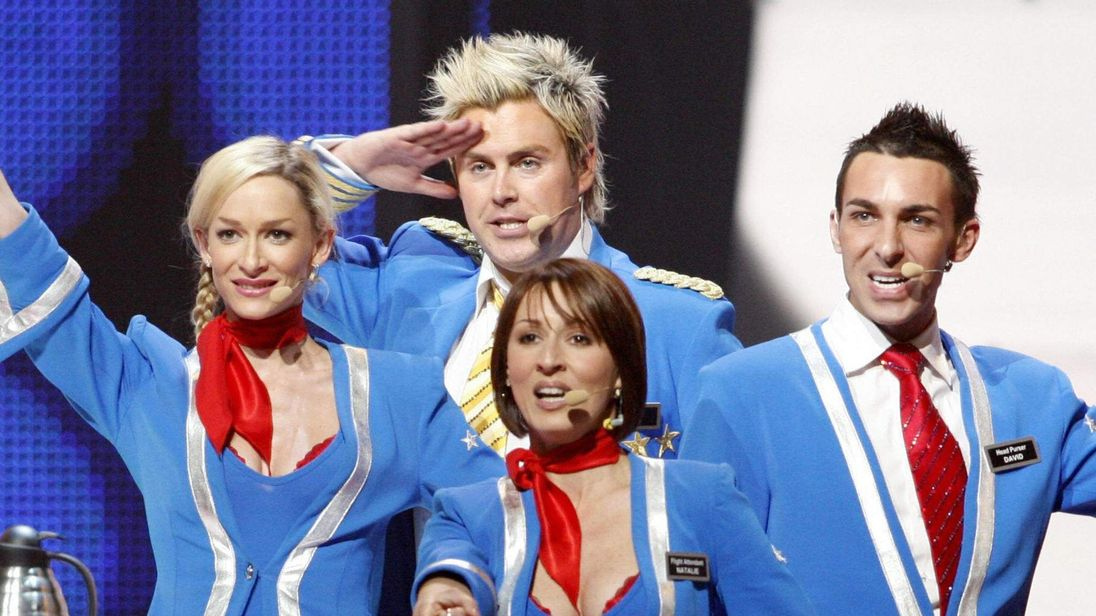 Scooch perform at the Eurovision Song Contest in 2007.