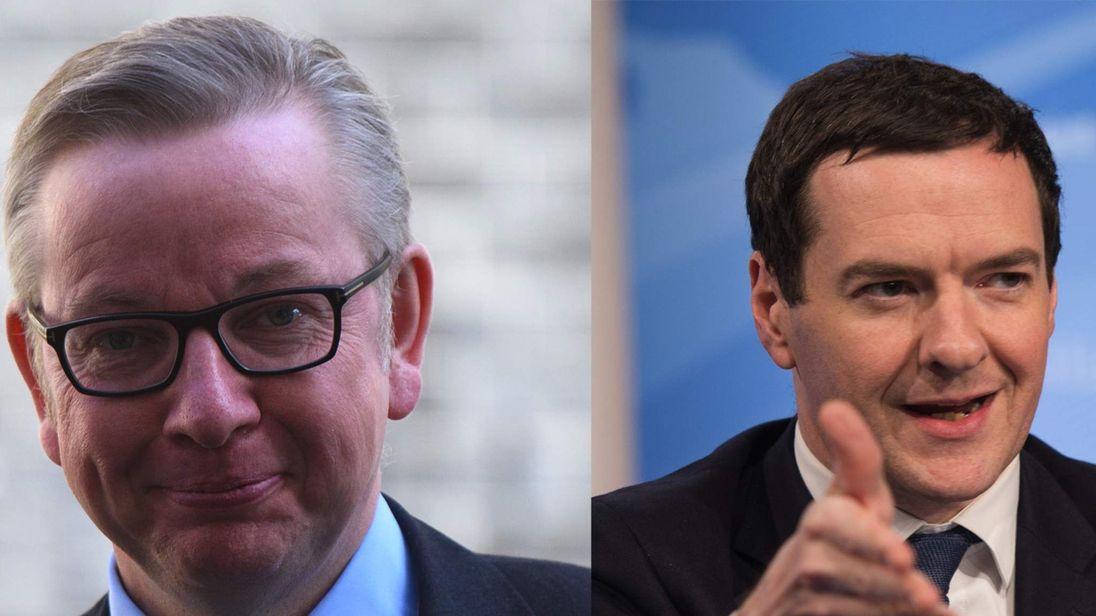 Michael Gove and George Osborne