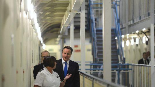 David Cameron inside Wormwood Scrubs