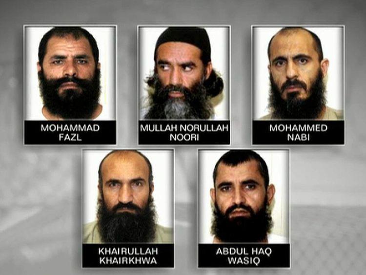 The five men released in exchange for Sergeant Bergdahl.