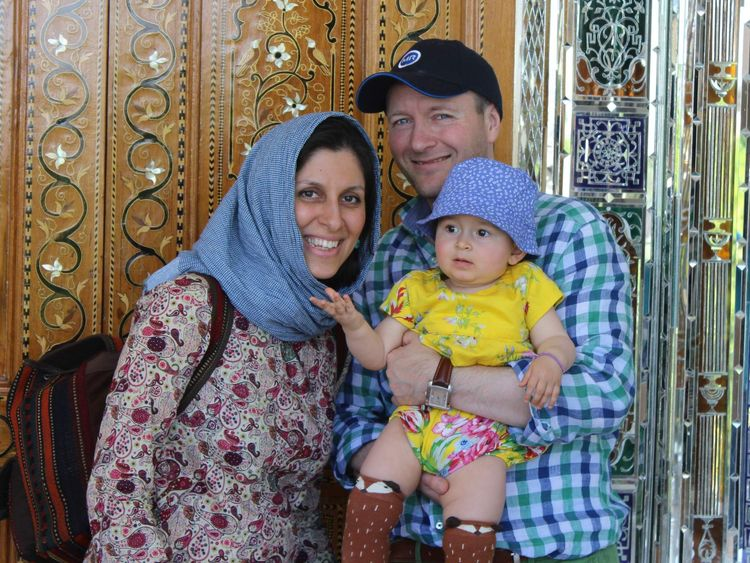 Nazanin Ratcliffe with her family