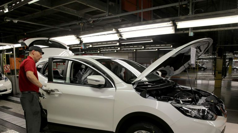 The New Nissan QashQai Rolls Off The Production Line In Sunderland