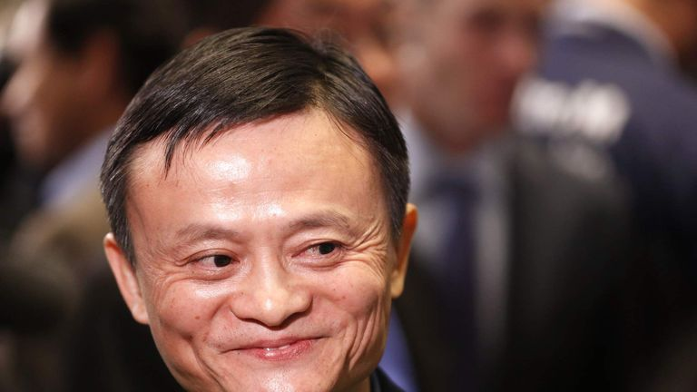 Alibaba founder Jack Ma at the New York Stock Exchange
