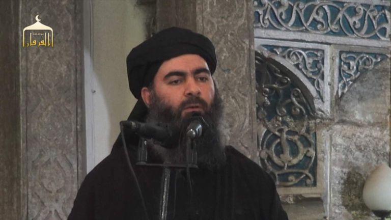 ISIS leader Abu Bakr al Baghdadi filmed in Mosul