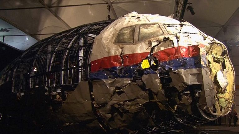 Fragments of the plane were reconstructed by investigators