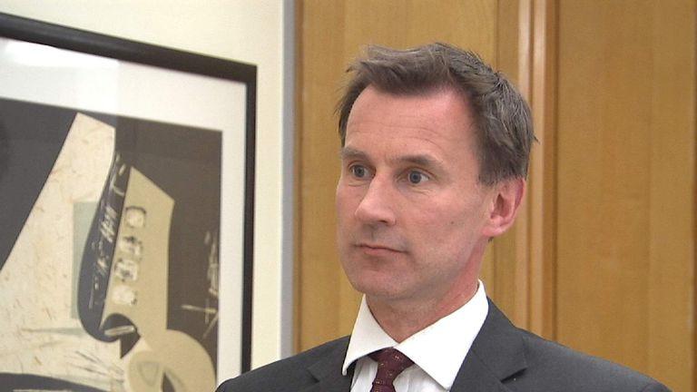 Jeremy Hunt Discusses New Talks Agreement