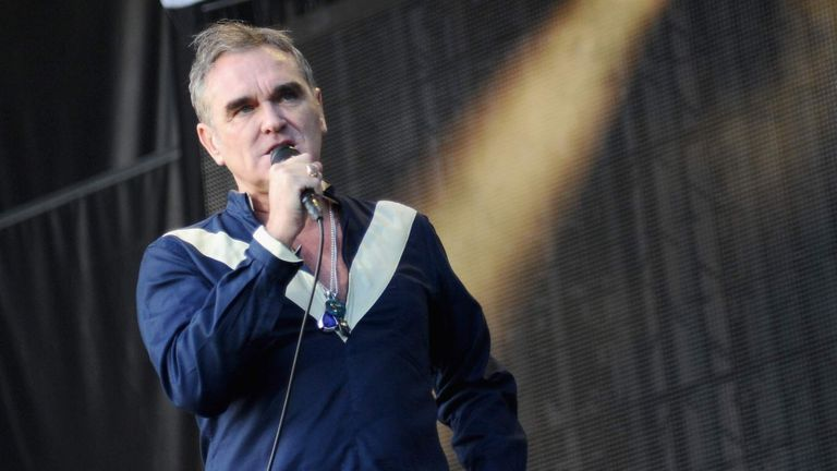 Morrissey performing in Delaware in 2015