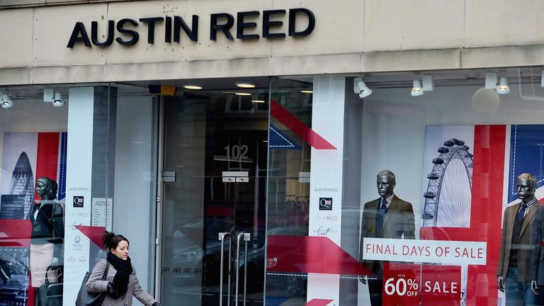 Austin Reed To Return To High Streets Next Year New Owner Business News Sky News