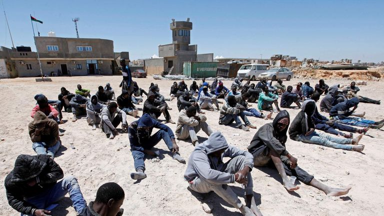 Migrants arrested after trying to flee Libya to head for Europe