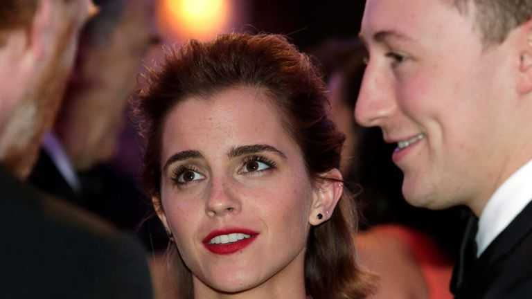Actress Emma Watson attends the White House Correspondents' Association annual dinner in Washington, U.S.