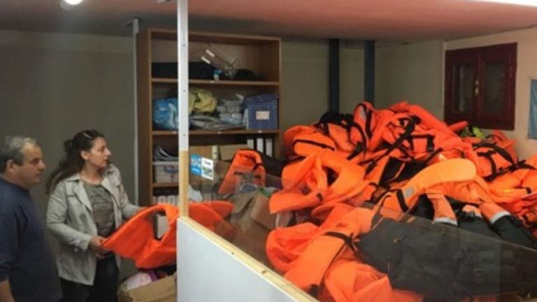 Life vests turned into wrist bands