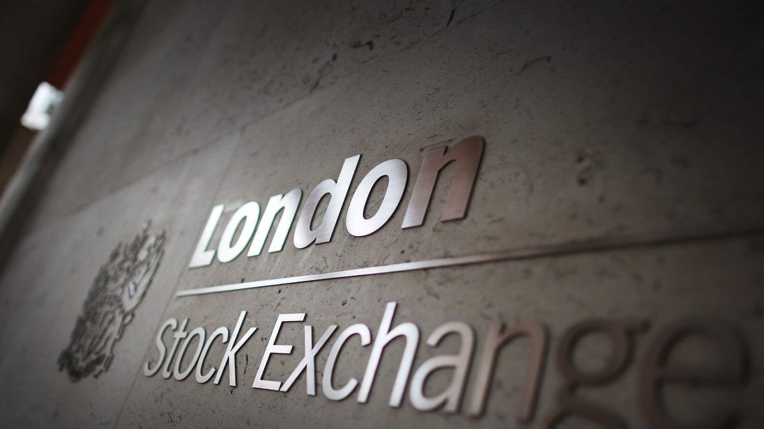 A sign denotes the entrance to The London Stock Exchange