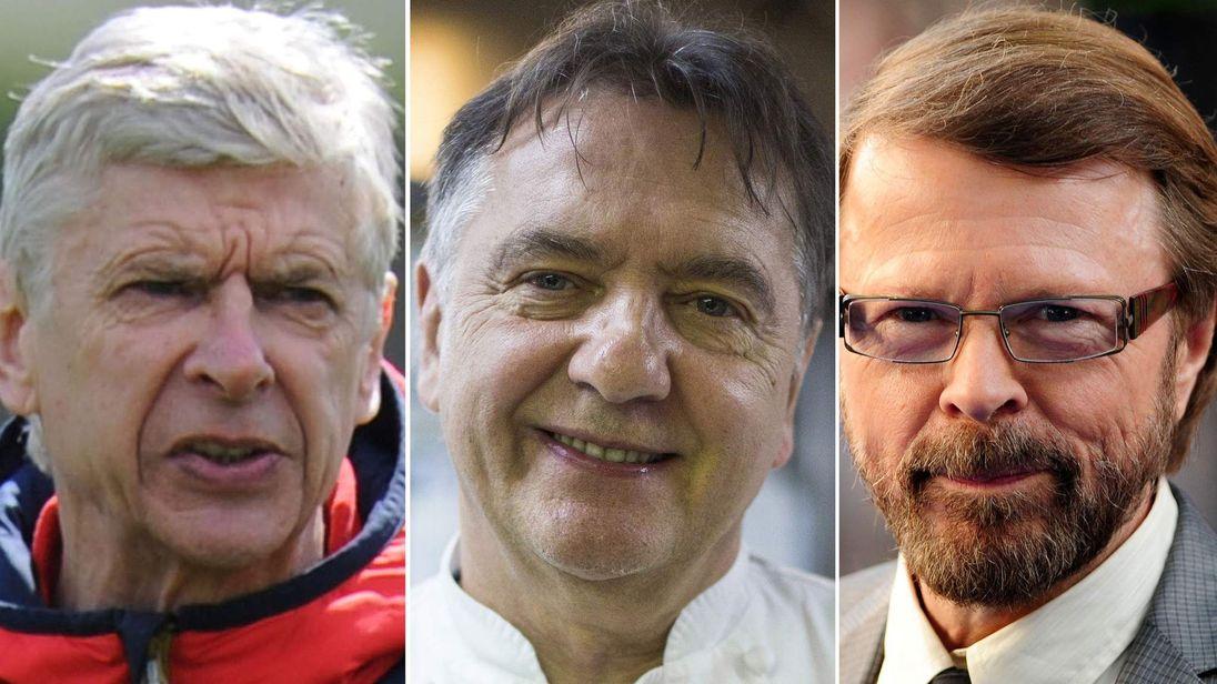 Arsene Wenger, Raymond Blanc and Bjorn Ulvaeus.