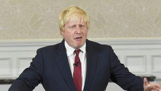 Vote Leave campaign leader, Boris Johnson, delivers a speech in London