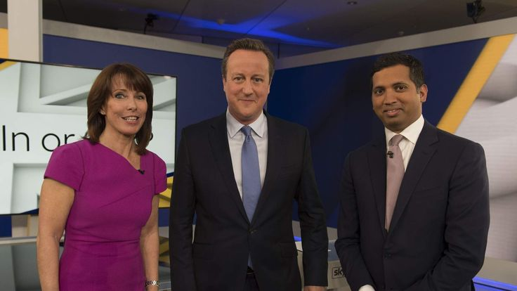 An image from the first Sky News EU TV debate with David Cameron