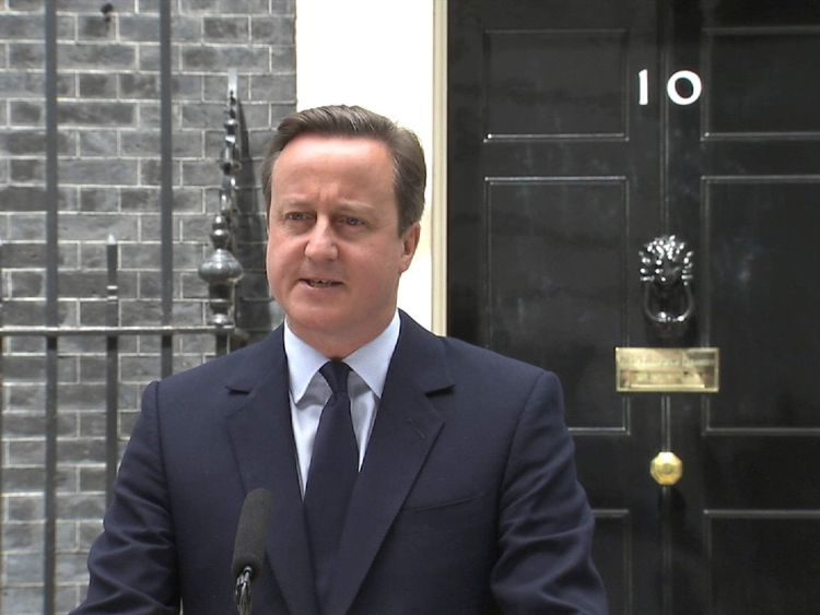 The Prime Minister Encourages Voters To Remain In The EU In Downing Street Statement