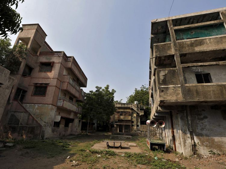 The ancestral home of Zakia Jafri is seen at the Gulbarg Society, a Muslim owned residential area, in Ahmedabad