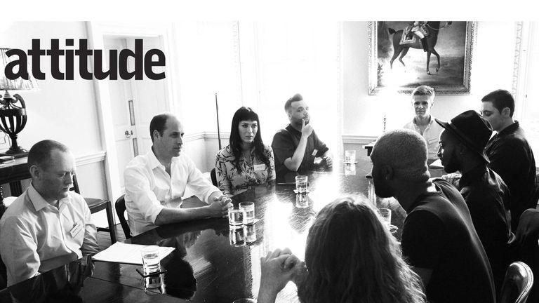 150616 Duke of Cambridge meeting with Attitude magazine (See notes)