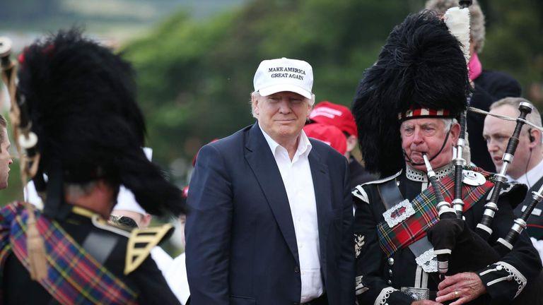 Donald Trump visit to Scotland