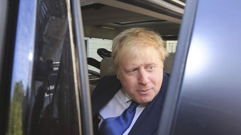 Vote Leave campaign leader Boris Johnson leaves his home in London