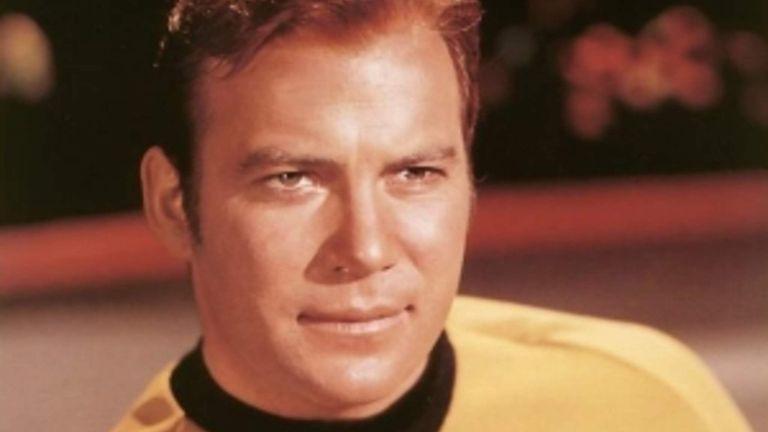 William Shatner as Captain James T Kirk from Star Trek