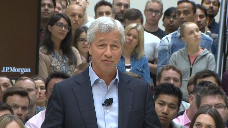 JP Morgan chief executive Jamie Dimon