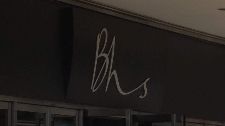 Entrance to BHS store in Oxford Street