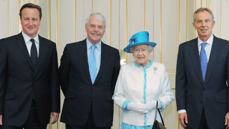 The Queen and some of her prime ministers