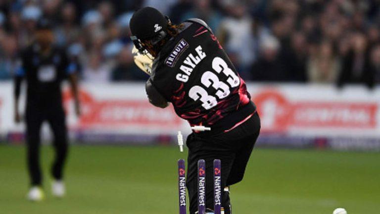 Gayle Falters As Somerset Lose In T20 Blast   Scoop News   Sky News
