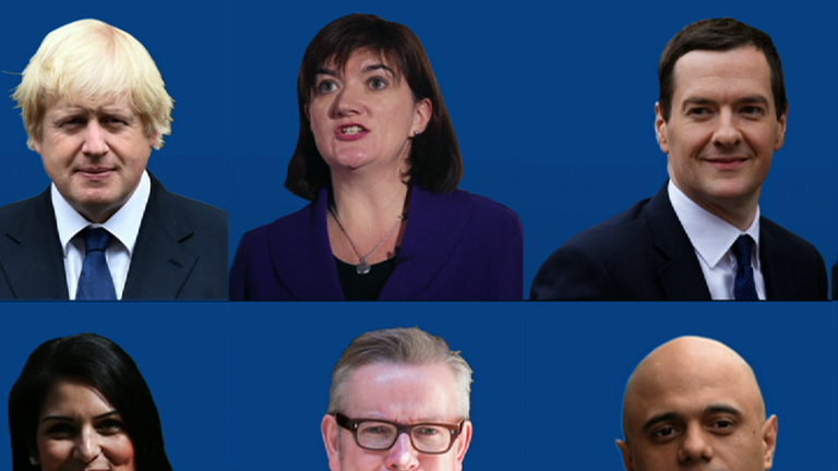 Conservative leadership contenders