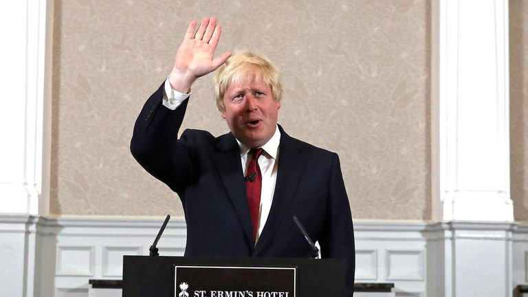Boris Johnson MP Launches His Bid To Become The Next Conservative Party Leader