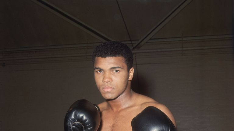 World heavyweight boxing champion Muhammad Ali in training at the Royal Artillery Gymnasium in London for his upcoming fight with British champion Henry Co