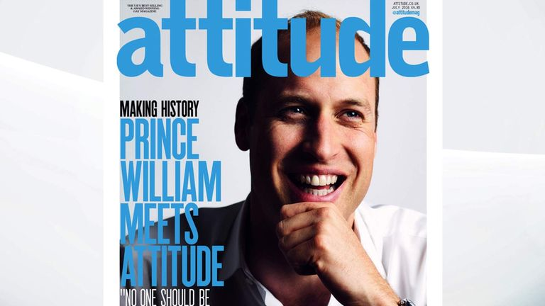 150616 Prince William gives interview to attitude magazine