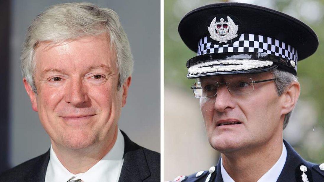 Tony Hall (L) and David Crompton