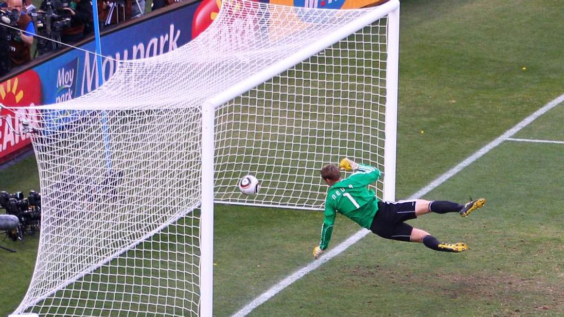 Frank Lampard's controversial 'goal' against Germany led to calls for goal-line technology