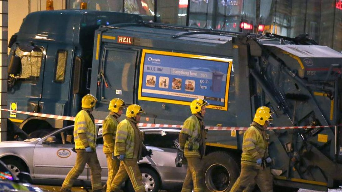 Bin lorry crash