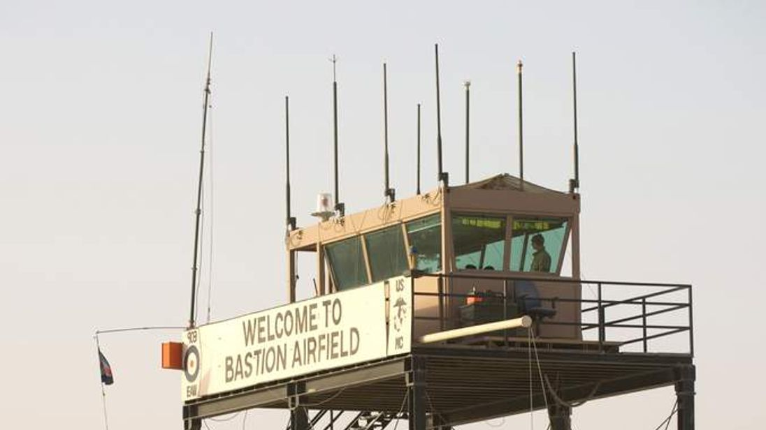 Sign For Camp Bastion Airfield In Afghanistan
