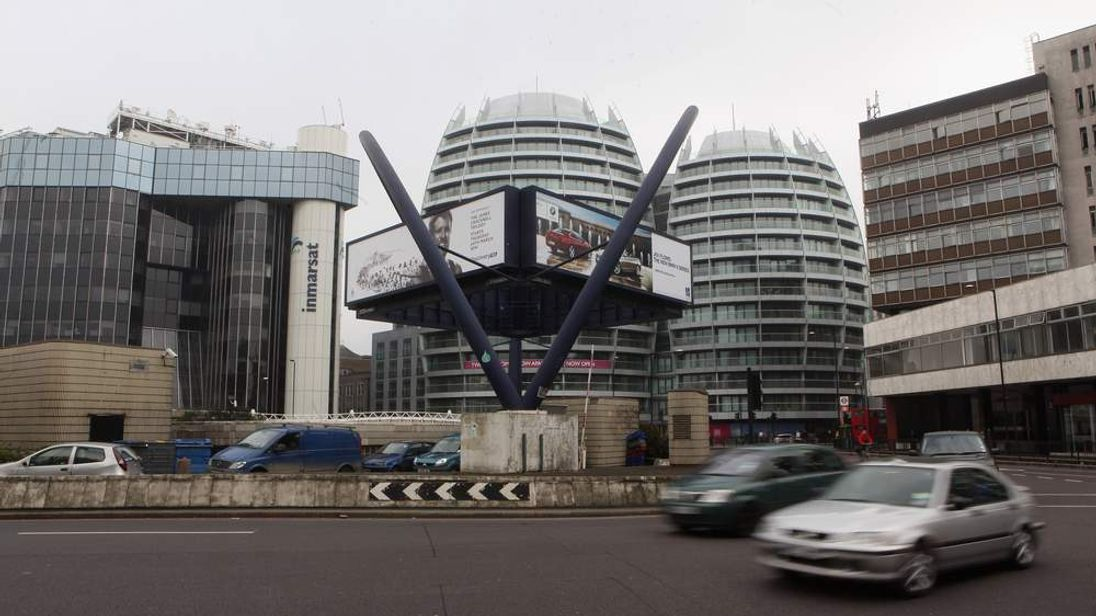 Old Street roundabout in Shoreditch, dubbed 'Silicon Roundabout'