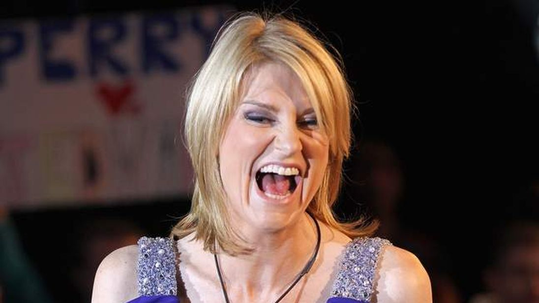 Sally Bercow arrives as a guest in the Big Brother House
