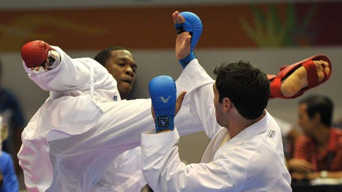 Karate athletes