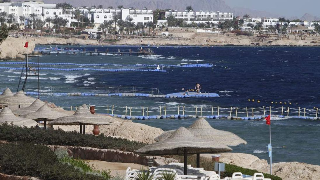 A general view shows a beach resort in the Red Sea town of Sharm el-Sheikh