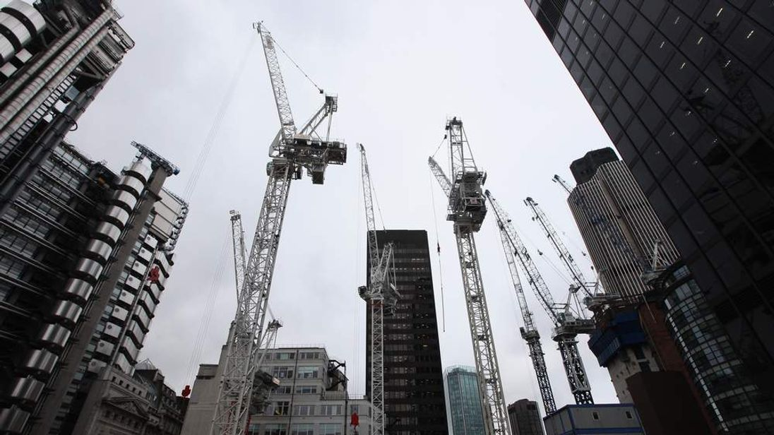 Buildling site in the City of London