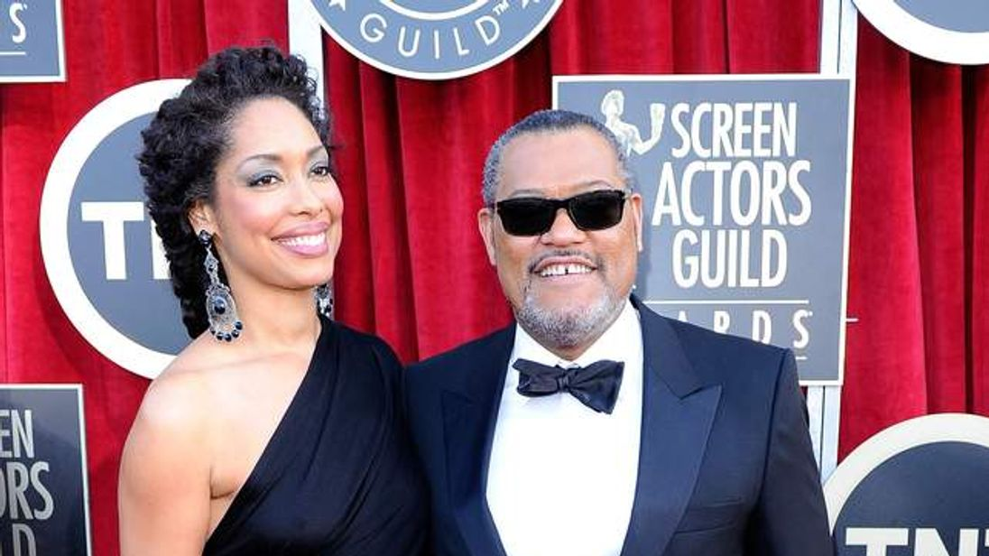 Laurence Fishburne and his wife Gina Torres
