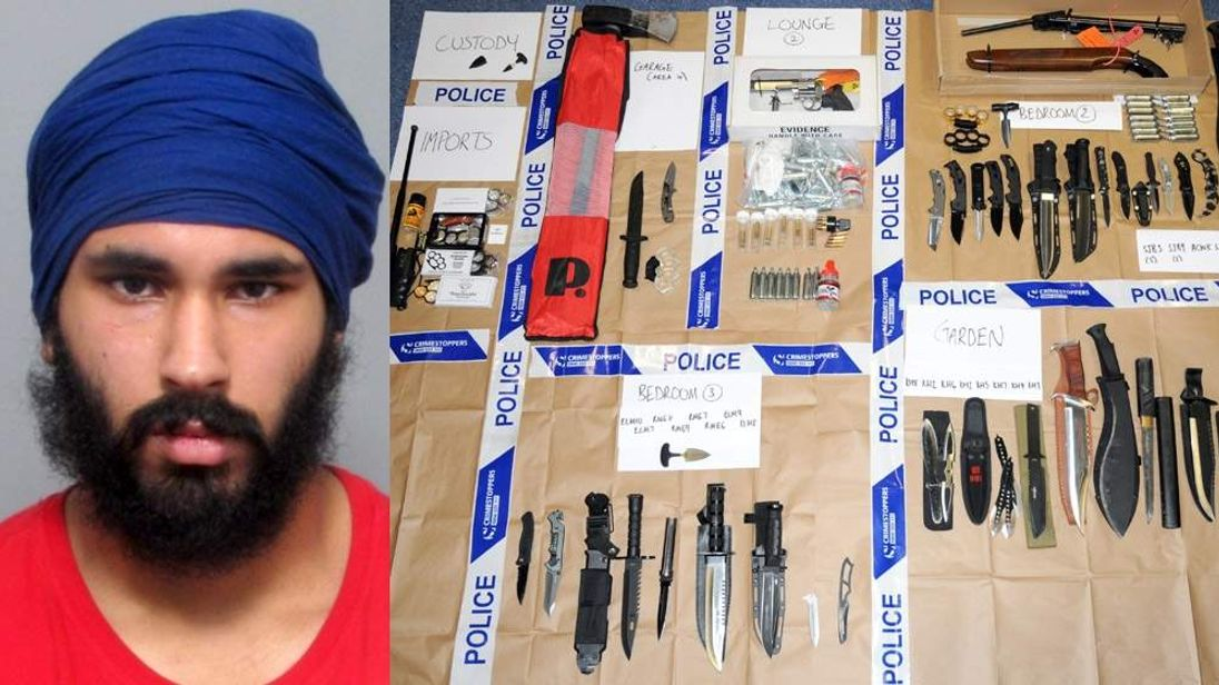 Parwinder Baning and some of his haul.