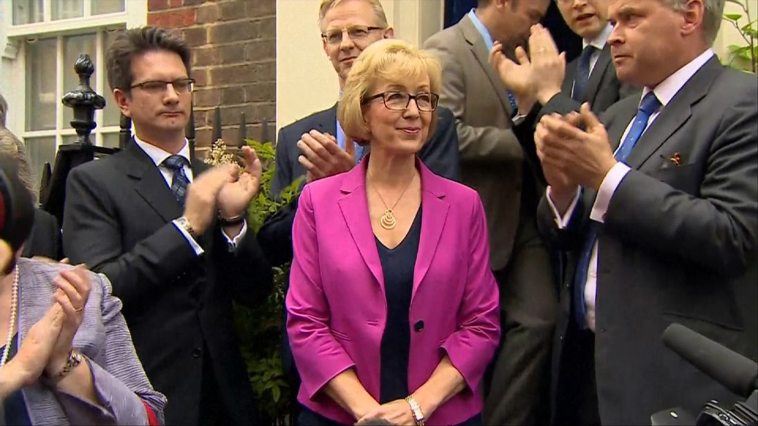Andrea Leadsom withdraws from the leadership race