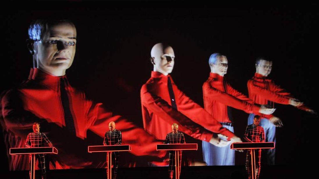 Ralf Hütter, Henning Schmitz, Fritz Hilpert and Stefan Pfaffe of Kraftwerk