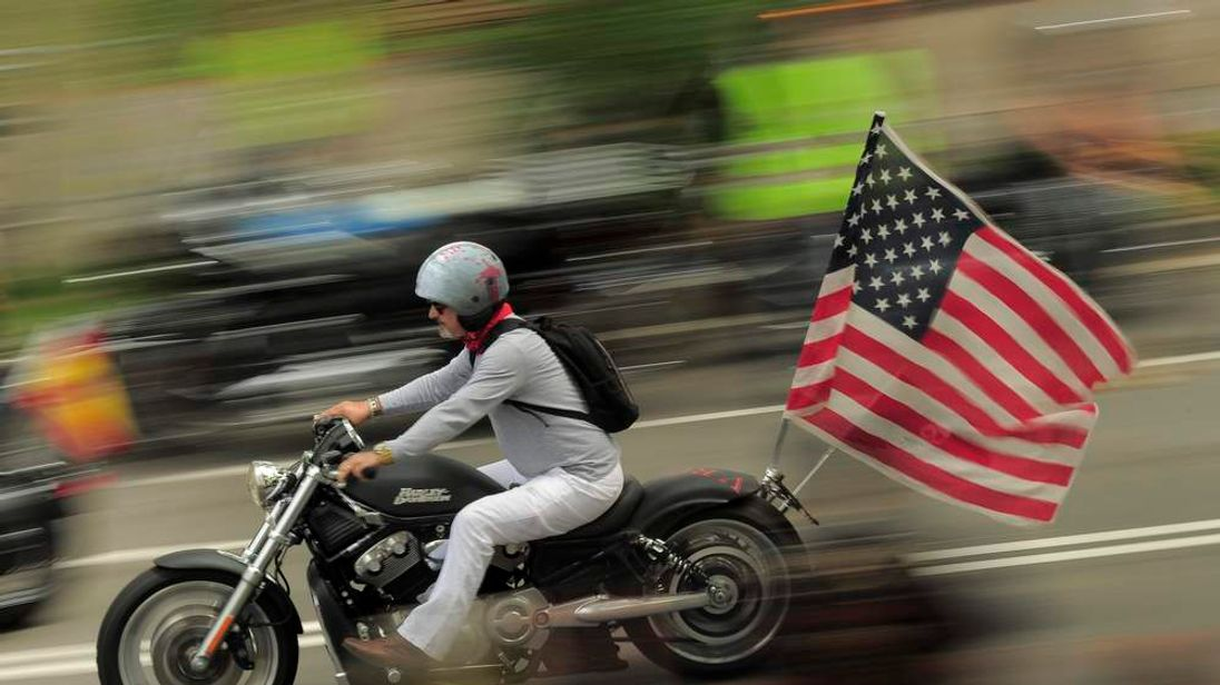 Harley Davidson motorcycles are an American icon